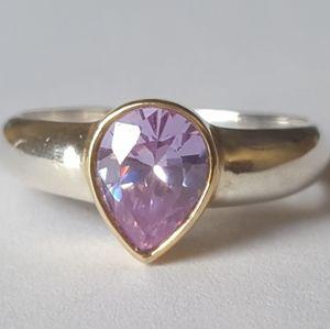 Lavender Amethyst Ring 925